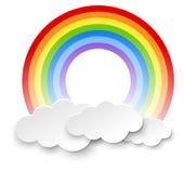 Arc-en-ciel rond dans les nuages illustration libre de droits