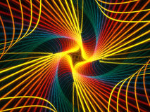 Arc-en-ciel spiralé Images libres de droits