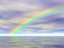 Arc-en-ciel sur l'eau reflétée - illustration 3D illustration libre de droits