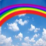 Arc-en-ciel sur le ciel Images libres de droits