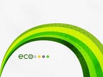 Arc-en-ciel vert d'eco sur la texture de textile Image libre de droits