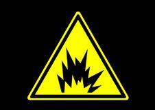 Arc flah explosion warning area signs label for emergency. Emergency label symbol for worker and industry buliding construction Stock Photography