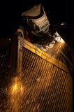 Arc flames. Arc welder at night Stock Image