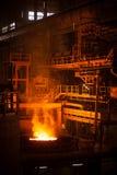 Arc furnace. Modern metallurgical plant in Dnipropetrovsk Ukraine Pinchuk Dneprosteel Dneprostal Stock Image