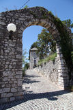 Arc and gate. Arc and road to the gate of Trsat castle in Rijeka, Croatia Stock Images