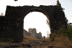 Arc gate. And fortress Besac near Virpazar, Montenegro Royalty Free Stock Images