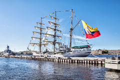 ARC GLORIA, which is a training ship and the official flagship of the Colombian Navy, on a visit to St. Petersburg Stock Photo
