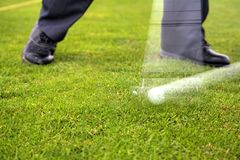 Arc of the golf club stock images