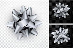 Arc gris réaliste pour le cadeau illustration stock