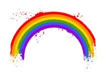 Arc grunge d'arc-en-ciel dans des couleurs de drapeau de LGBT illustration libre de droits