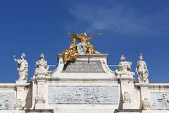 Arc here, place Stanislas in Nancy. France Stock Images