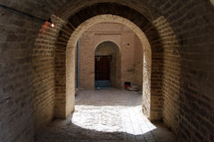 Arc in the inner yard of fortress. Arc in the inner yard of old fortress in Shush, Iran Stock Photos