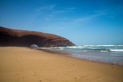 Arc of Legzira. Legzira beach, Atlantic ocean, Morocco Royalty Free Stock Photo