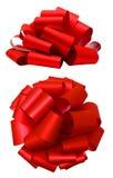 Arc luxuriant rouge d'isolement au-dessus du blanc, chemin de coupure Images stock