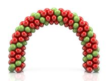 Arc made of red and green balloons 3D Stock Photography