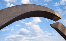 Arc memorial. An abstract gateway made of concrete Royalty Free Stock Images