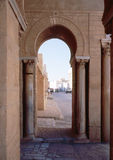 Arc in near east town. Part of islamic mosque in Tunisia Stock Images