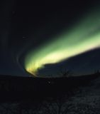Arc of northern lights in the sky. Film, 120-format slide Stock Images