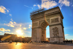 Arc in Paris Royalty Free Stock Images