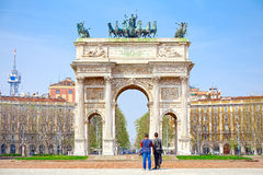 Arc of Peace in Milan.  Stock Images