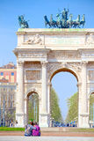 Arc of Peace in Milan.  Royalty Free Stock Photos