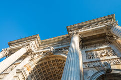 Arc of Peace in Milan. Milano, Arco della Pace Stock Photos