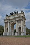 Arc of peace, milan Royalty Free Stock Photos