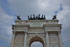 Arc of peace, milan Stock Photography