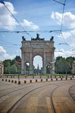 Arc of peace, milan. Arc of peace in sempione park, milan italy Stock Image