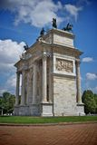 Arc of peace, milan. Arc of peace in sempione park, milan italy Stock Images
