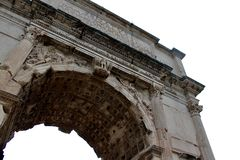 Arc in Rome. Constantine Arc near the Colosseum Royalty Free Stock Image