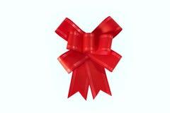 Arc rouge de cadeau Photos libres de droits