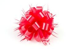 Arc rouge en plastique de ruban Image stock