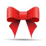 Arc rouge et blanc de point de polka illustration stock