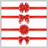 Arc rouge réglé Image stock