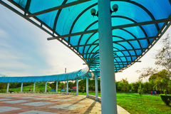 The arc-shaped gallery. The photo was taken in Tieren park Daqing city,China Stock Photo