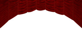 Arc shaped Red Curtain Stock Photo