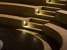 Arc Shaped Stairs. At night Royalty Free Stock Image