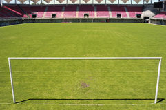 Arc soccer. Bow on the football field Stock Photography