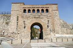 Arc or St. Stephen's Gate Burgos, Spain. Arc or St. Stephen's Gate of the twelve gates to the city, built in the twelfth century Burgos, Spain Royalty Free Stock Photography