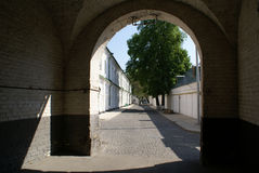Arc and street. In Lavra monastery in Kiev, Ukraine Stock Images