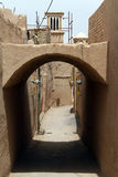 Arc on the street. In old Yazd, Iran Royalty Free Stock Image