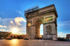 Arc at sunset Paris Royalty Free Stock Photo