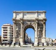 Arc triomphal Porte également connu sous le nom de Porte Royale à Marseille Photo stock