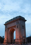 Arc of Triomphe evening view in Bucharest, Romania Stock Image