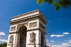 Arc the Triomphe, Paris. Blue sky Stock Image