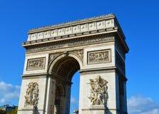 Arc the Triomphe. In Paris Stock Images