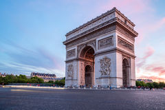 Arc of Triomphe Paris. Arc of Triomphe Champs Elysees Paris city at sunset Royalty Free Stock Images