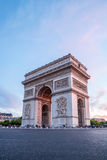 Arc of Triomphe Paris. Arc of Triomphe Champs Elysees Paris city at sunset Stock Image