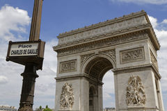 The arc of Triomphe Royalty Free Stock Photos
